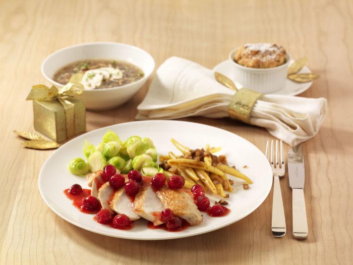 Pilz-Gemüsebrühe: Vorspeise Precon Weihnachtsmenü
